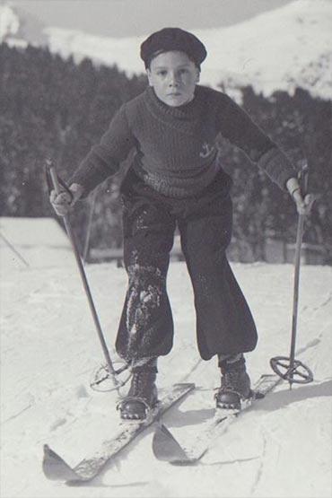 Jean Kahn sur la neige