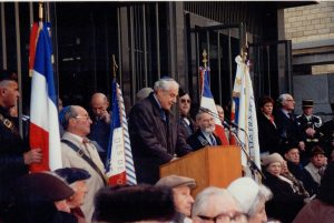Commémoration soulèvement Ghetto Varsovie, avril 1995, Paris